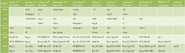 First Term Timetable - Image 1